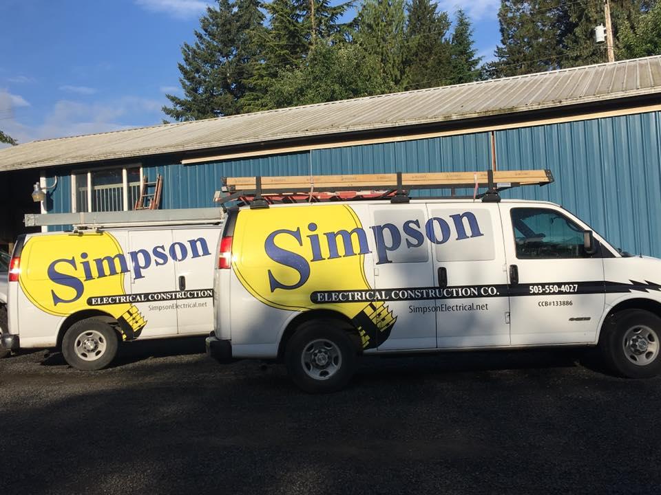 Simpson Electrical Construction Co. Service Vans