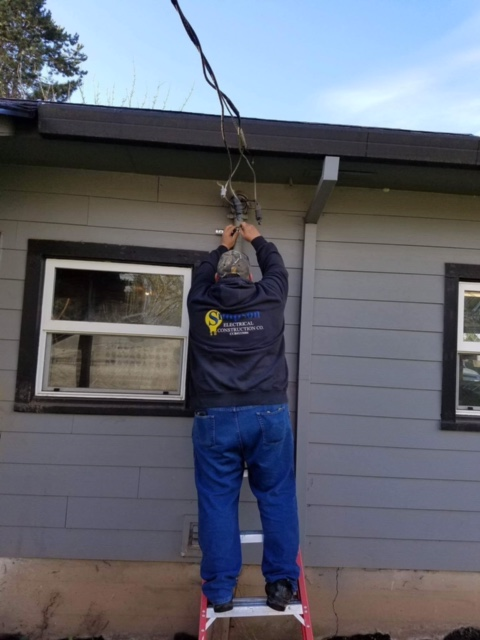 A Simpson Electrical Construction Co. electrician at work!