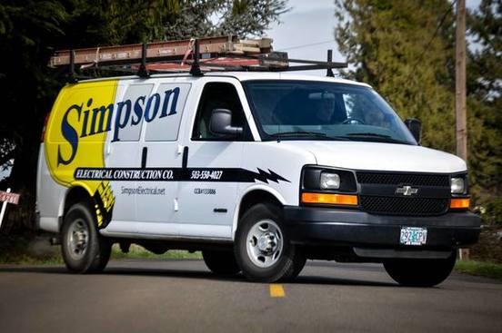 Simpson Electrical Construction Co. Van